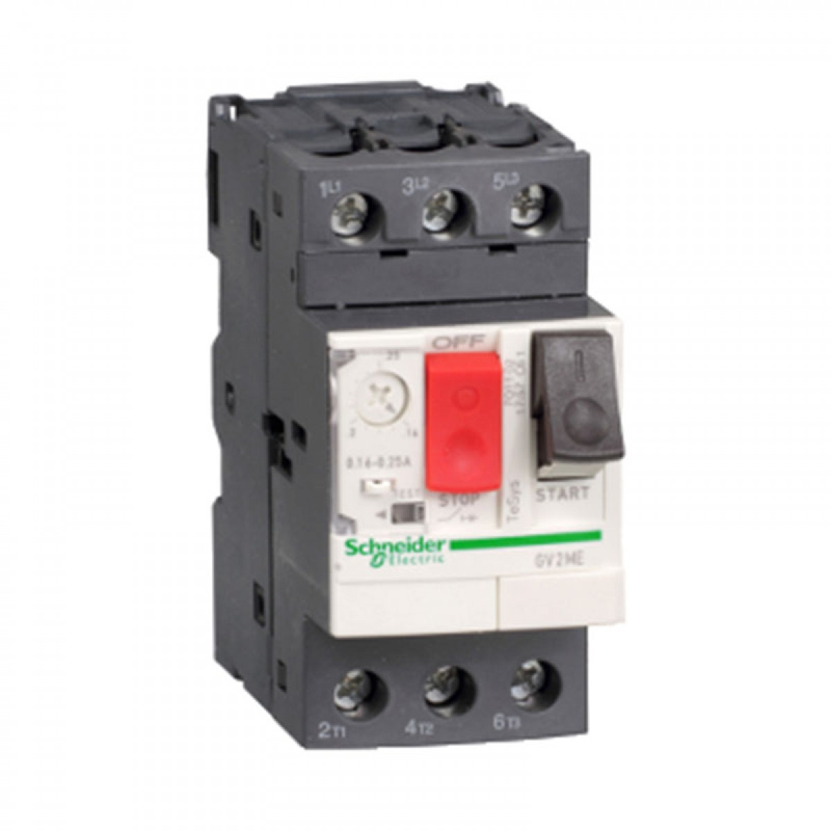 Schneider TeSys GV2 Motor Circuit Breakers And Switches GV2ME01C Range: 0.1-0.16A